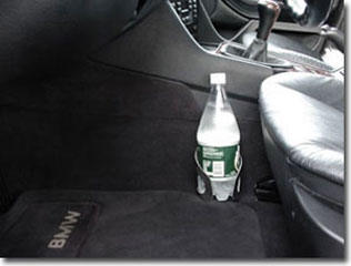 BMW 5 Series Cup Holder/Cupholder with one-liter bottle